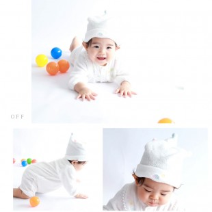 Aenak Birth Newborn Baby Hat - White