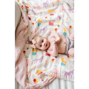 Captain Silly Pants  Bamboo Triple-layer Blanket-Circus