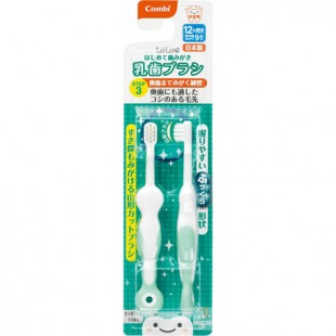 Combi Baby Training Toothbrush Set (Step 3) 12month+