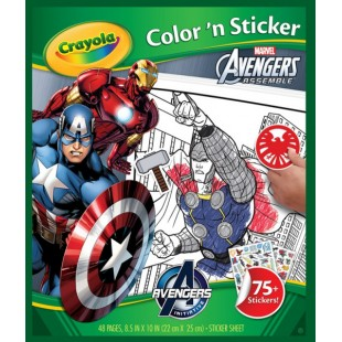 Crayola Color & Sticker Book: Marvel Avengers