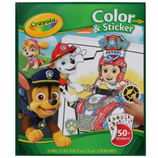 Crayola Color & Sticker Book: Paw Patrol