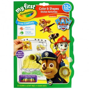 Crayola My First Colour & Activity Book Paw Patrol