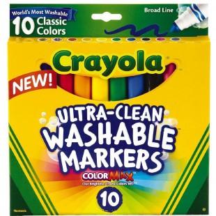 Crayola可水洗水彩笔套装 10色 宝宝画画笔工具无毒安全