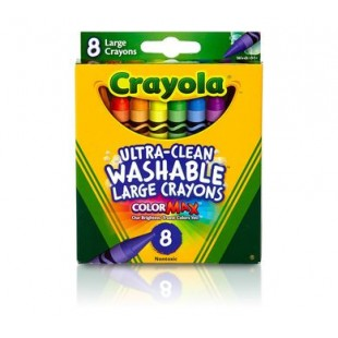 Crayola可水洗蜡笔套装 8色 宝宝画画笔工具无毒安全