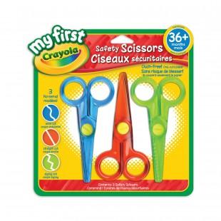 Crayola 幼儿/儿童系列 3色圆头安全剪刀