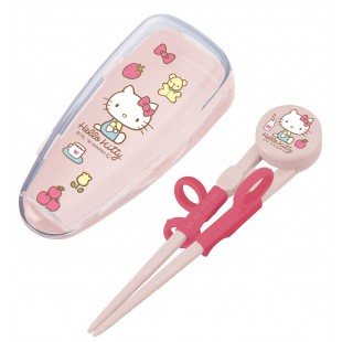 Edison Kids Chopsticks with Case For Right Hand (Kitty)