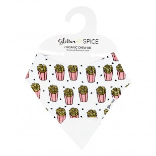 Glitter & Spice Organic Chew Bib - French Fries