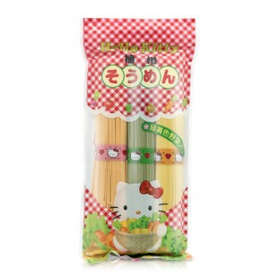 Japan Hello Kitty Green and Yellow Vegetables Noodle 300G