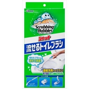 Johnson Scrubbing Bubble Toilet Brush Body with 4x Brush Replacement