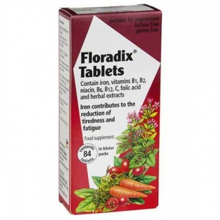 Floradix Tablets Iron and Vitamin Tablets 84s
