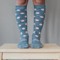 Lamington Merino Wool Knee High Cable Socks | POMPOM