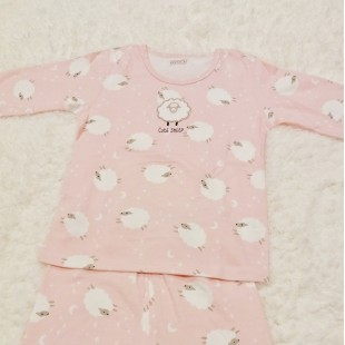 Lily & Sally PJ Set - Little Sheep Pink