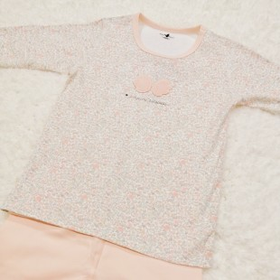 Lily & Sally PJ Set - Floral Pink