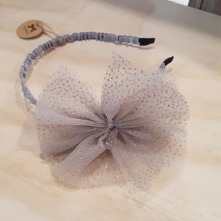 Little Ellie Hand Made Kids Headband - Grey