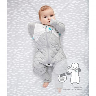 Love To Dream Swaddle Up Transition Suit 2.5TOG - White