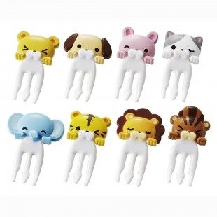 m'sa Bento - Animal Fork Pick 8pcs