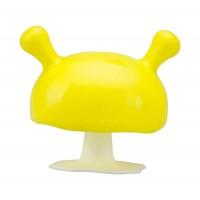Mombella Mushroom Soothing Teether - Yellow
