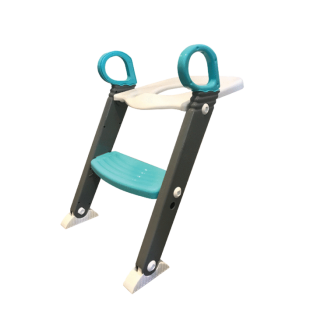 Moose Step on up Toilet Trainer-Grey/Aqua