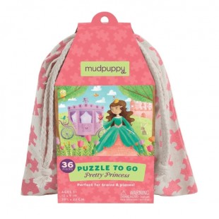Mudpuppy Puzzle to Go Pretty Princess 36pcs