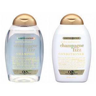 有机OGX 限量版 香槟酒 洗发水/护发素 385毫升 滋养控油蓬松