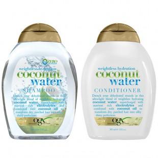 有机OGX 椰子水 洗发水/护发素 385毫升 保湿水润