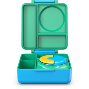 Omiebox 宝宝儿童便携防漏分格装汤粥不锈钢保温便当午餐饭盒 - 绿色