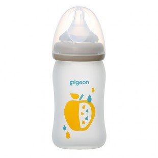 Pigeon Limited Edition Silicon Baby Nursing Bottle with S Teat 160ml - Fruit