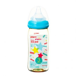 Pigeon PPSU Plastic Baby Nursing Bottle with M Teat 240ml - Blue