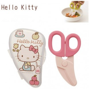 Skater Baby Food Scissors With Case - Hello Kitty