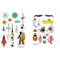 TattoofabFabulous Temporary Tattoos - Universe by S Truant+Sous les mers by S Truant(2pcs)