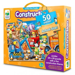 The Learning Journey Jumbo Floor Puzzle - Construction 50 Large pcs