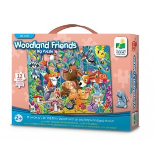 The Learning Journey My First Big Floor Puzzle-Woodland 12 pcs