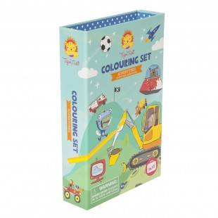 Tiger Tribe Colouring Set - Boys Favourites