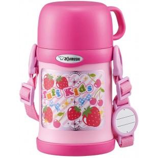 ZOJIRUSHI kid Vacuum Insulated Straw Bottle 2 Way 450ml - Pink