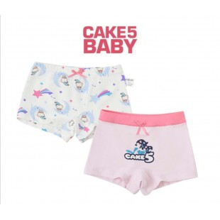 Cake 5 Kids Underwear 2pk Mermaid Girls Shortie