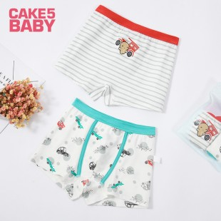 Cake 5 Kids Underwear 2pk Car Boys Shortie